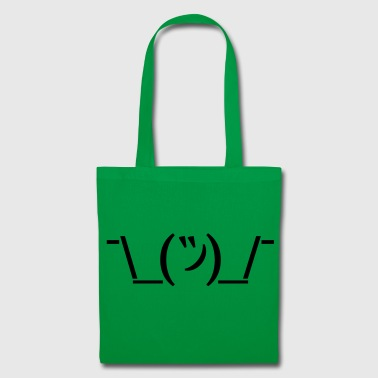 Stofftasche Shruggie Emoticon Egal - Stoffbeutel