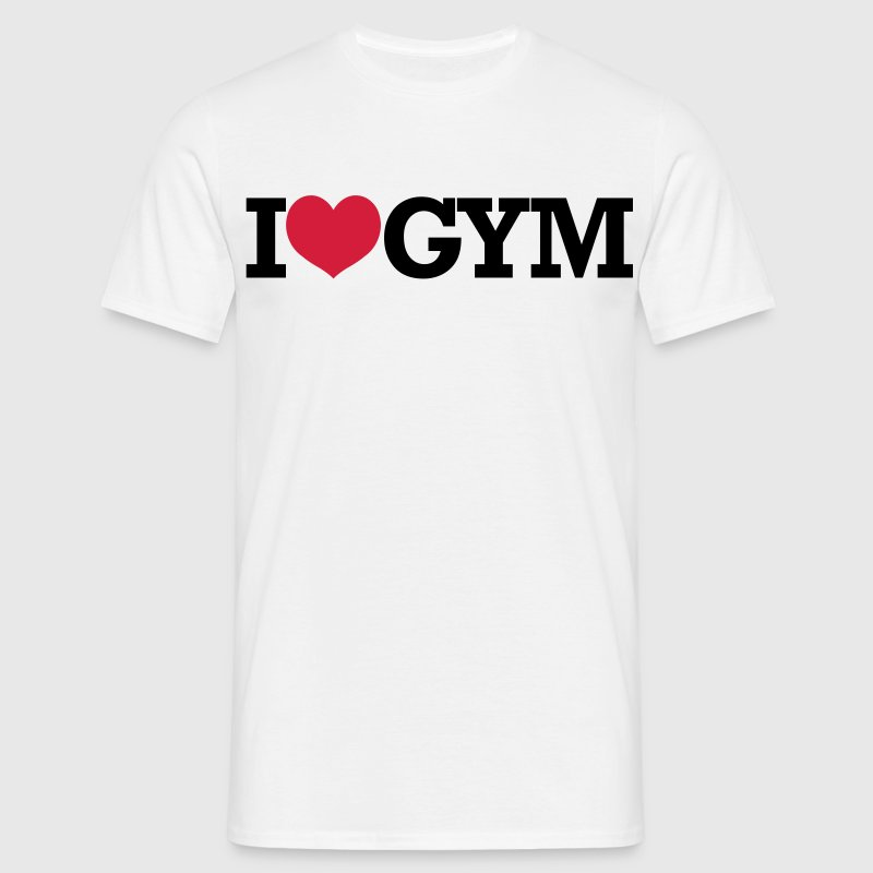 I Love Gym - Bodybuilding, Crossfit, Fitness T-Shirts - Männer T-Shirt