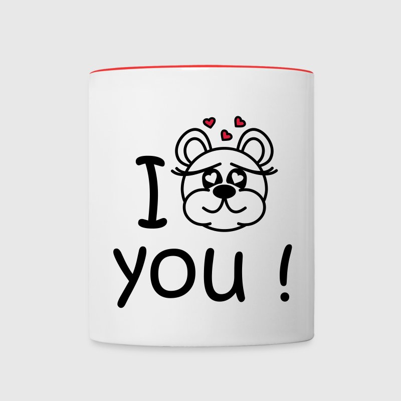 I love you - cute bear Bottles & Mugs - Tasse zweifarbig