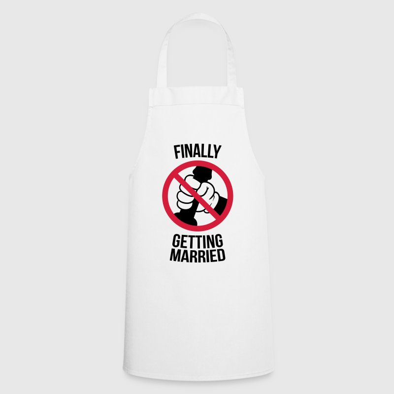 Finally getting married with cock, jerk, wank  Aprons - Cooking Apron
