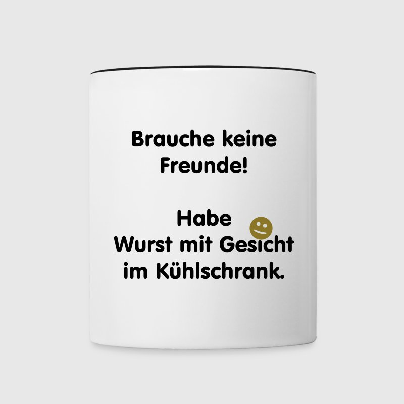 wurst mit gesicht tasse spreadshirt. Black Bedroom Furniture Sets. Home Design Ideas