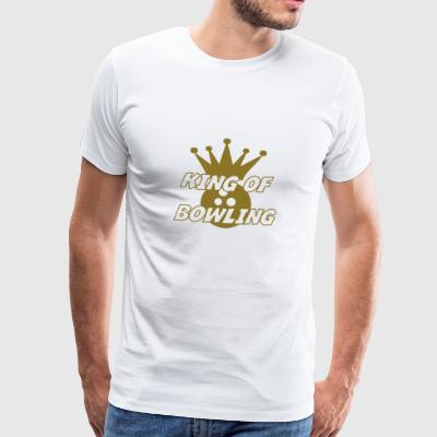 King of Bowling Flaskor & muggar - Premium-T-shirt herr