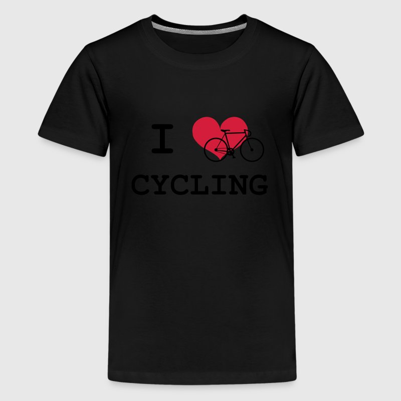I Love Cycling Tee shirts - T-shirt Premium Ado