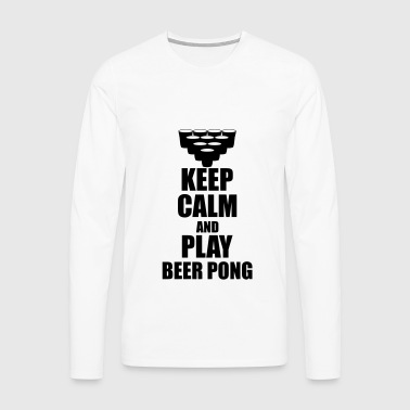 Keep calm and play beer p T-Shirts - Men's Premium Longsleeve Shirt