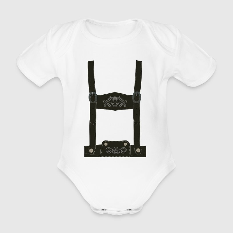 Leather pants / Oktoberfest - outfit / costume Shirts - Organic Short-sleeved Baby Bodysuit