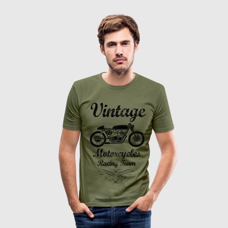 motorcycles racing team T-Shirts - Men's Slim Fit T-Shirt