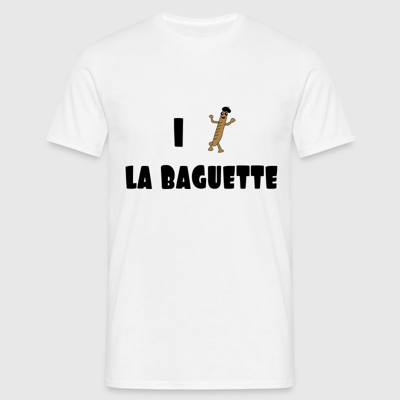 I love baguette T-Shirts - Men's T-Shirt