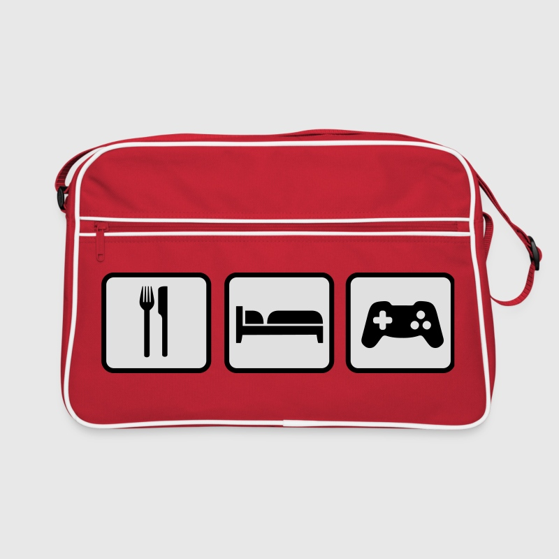 Eat Sleep Game Bags & Backpacks - Retro Bag