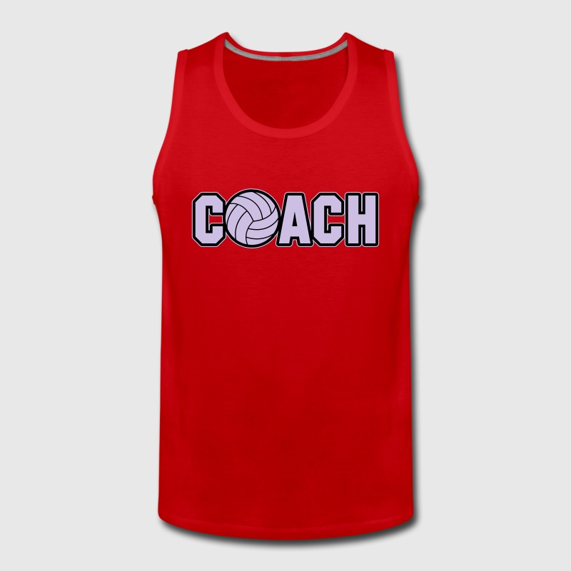 Volleyball Coach Tank Tops - Tank top premium hombre