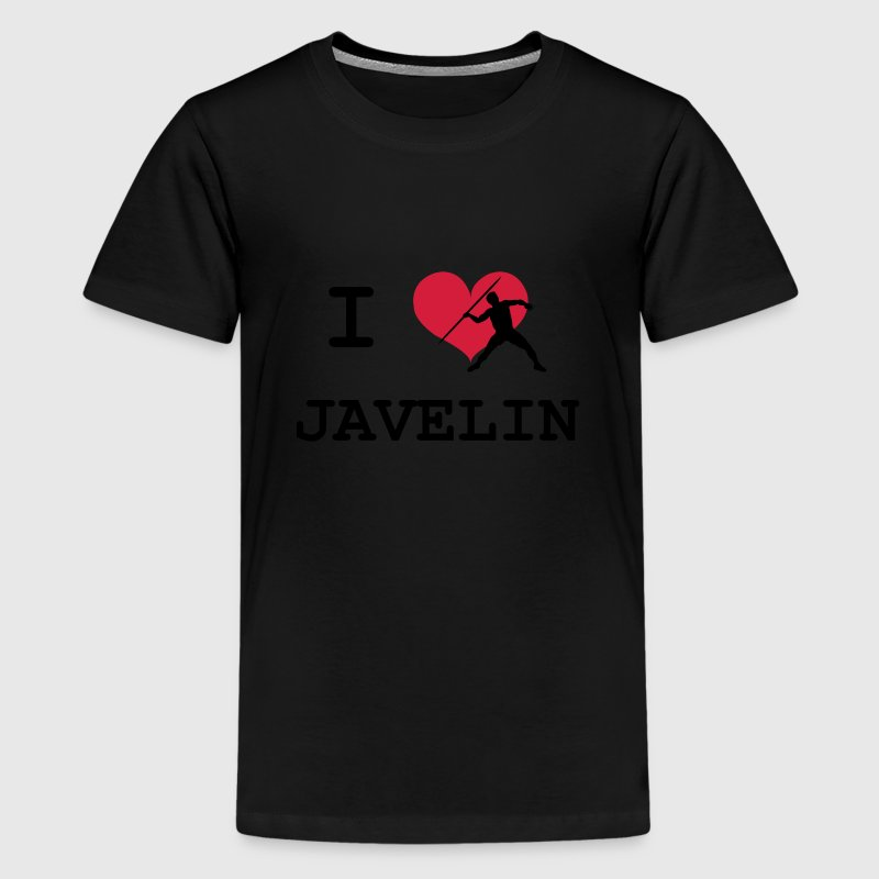 I Love Javelin Shirts - Teenage Premium T-Shirt