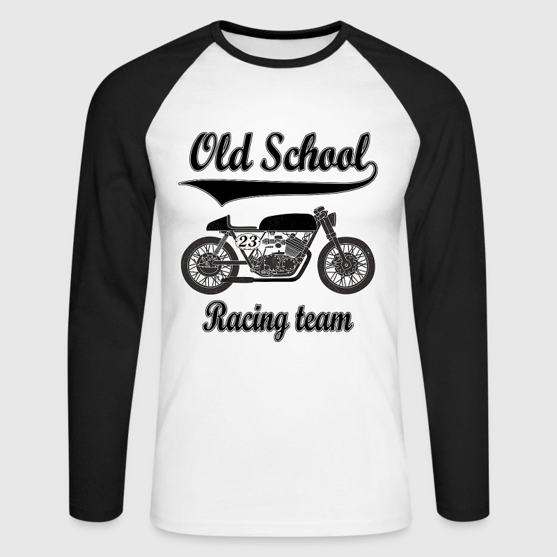 Old school motorcycles vintage team Manches longues - T-shirt baseball manches longues Homme