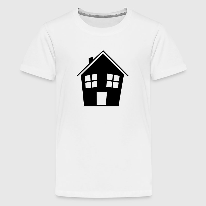 Gruseliges schiefes Haus T-Shirts - Teenager Premium T-Shirt