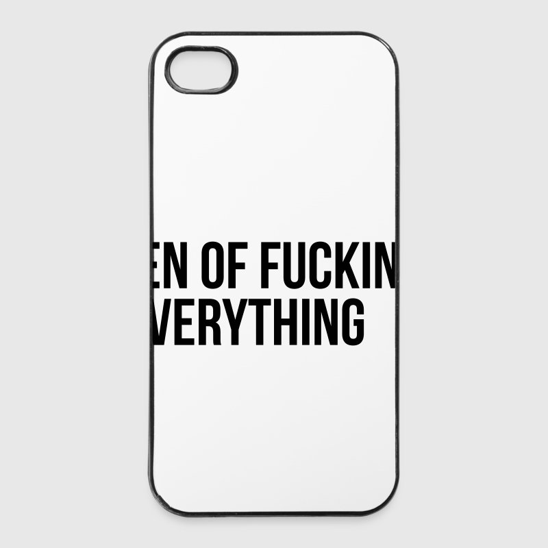 Queen of fucking everything Coques pour portable et tablette - Coque rigide iPhone 4/4s