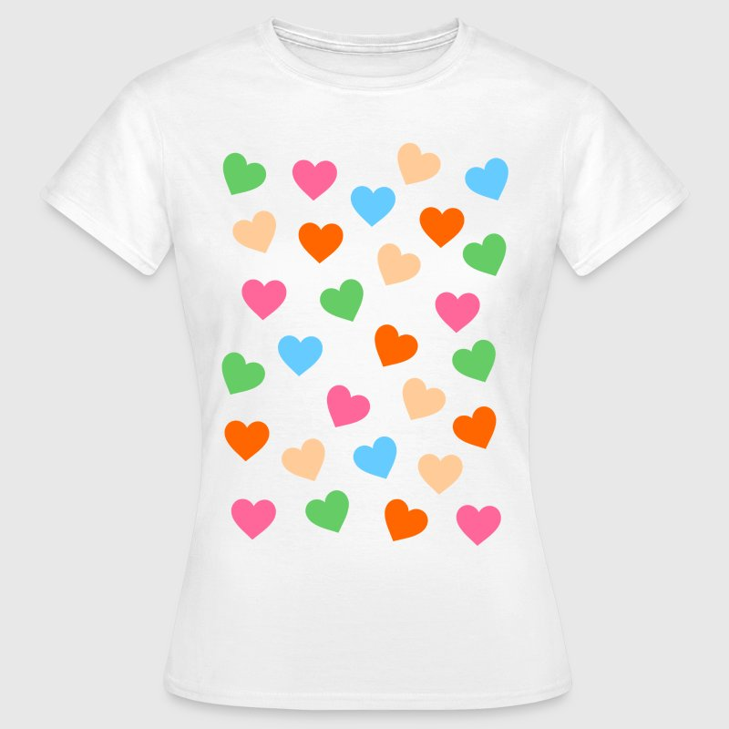 colorful small hearts T-Shirts - Women's T-Shirt