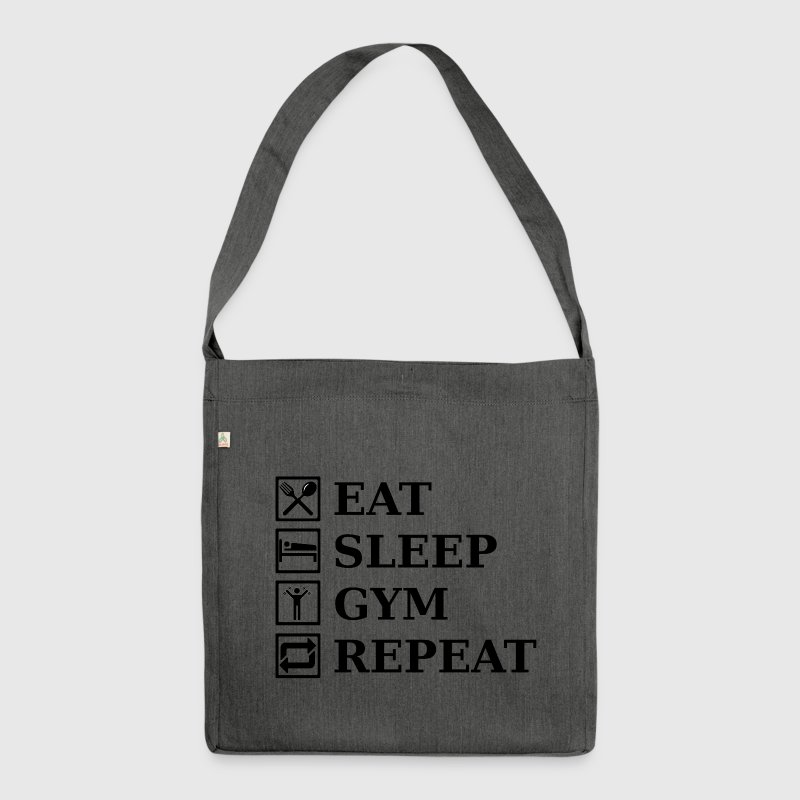 EAT SLEEP GYM REPEAT Bags & Backpacks - Shoulder Bag made from recycled material