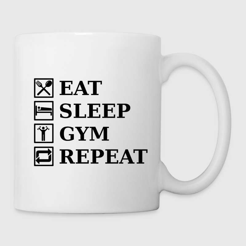 EAT SLEEP GYM REPEAT Bottles & Mugs - Mug