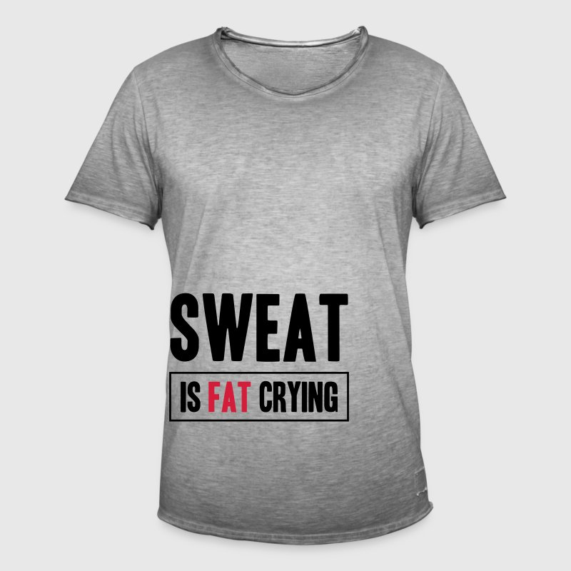 Sweat Is Fat Crying Pantalons et shorts - T-shirt vintage Homme