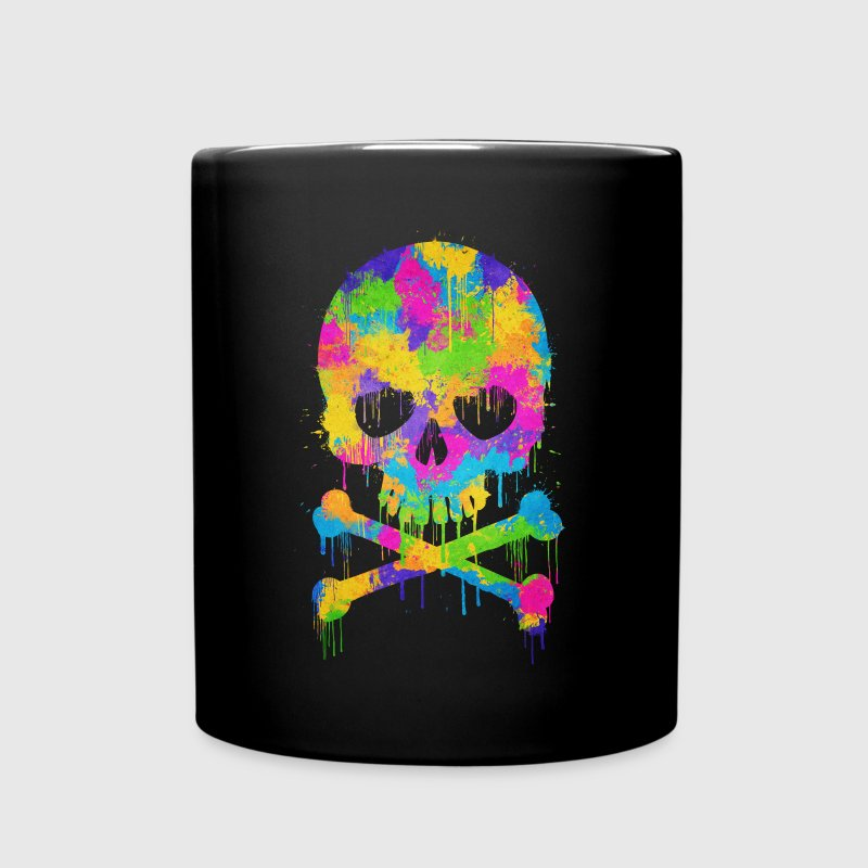 Trendy & Cool Abstract Graffiti Skull  Flasker & krus - Ensfarvet krus
