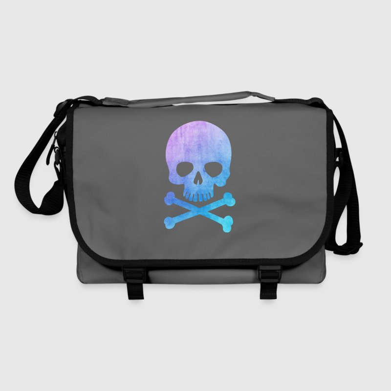 Trendy & Cool Water Color Hipster Skull / Art Bags & Backpacks - Shoulder Bag