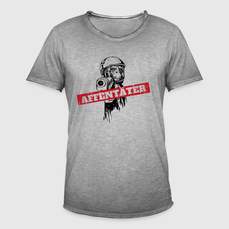 Monkey killer monkey with gun Hoodies - Men's Vintage T-Shirt