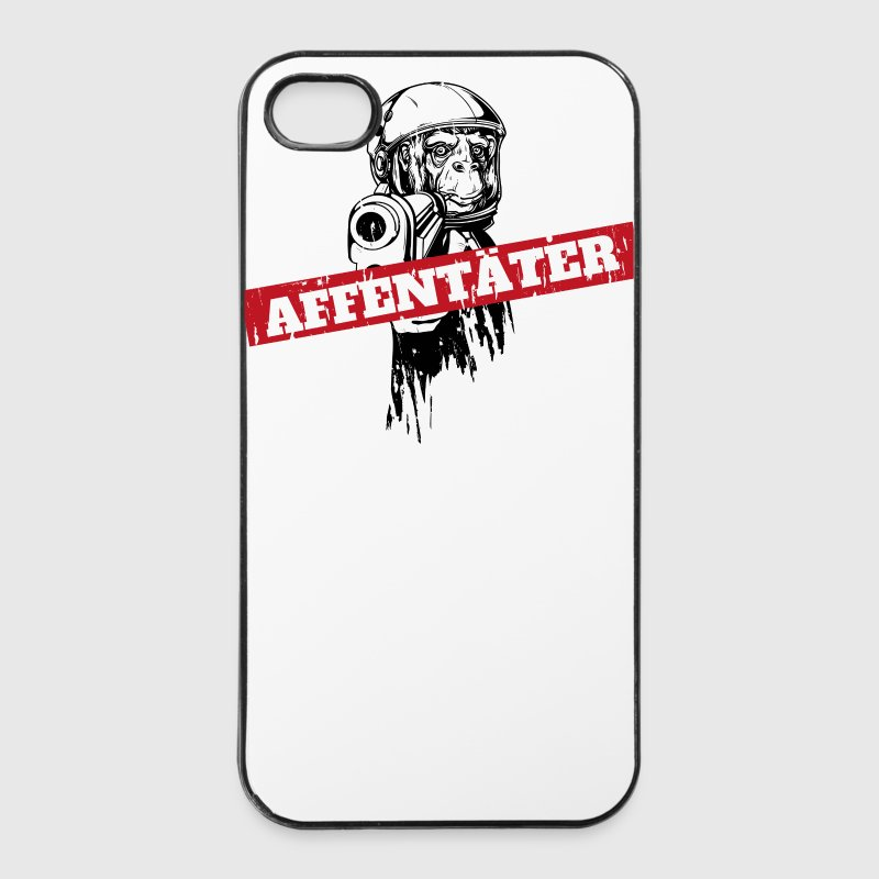 Monkey killer ape med pistol Etuier for mobil & nettbrett - iPhone 4/4s hard case