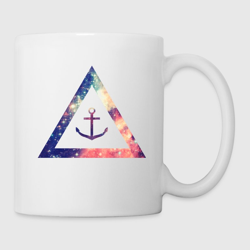Galaxy / universe / hipster triangle with anchor Bottles & Mugs - Mug