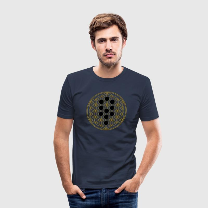 Flower of Life with 10 Sephiroth, Kabbalah, 2c Tee shirts - Tee shirt près du corps Homme