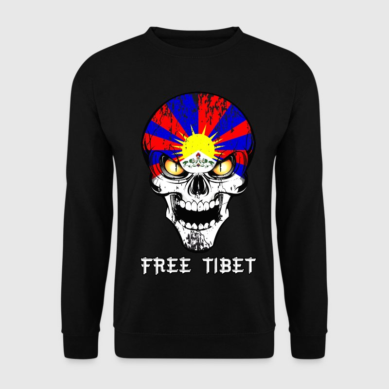 skull free tibet Sweat-shirts - Sweat-shirt Homme