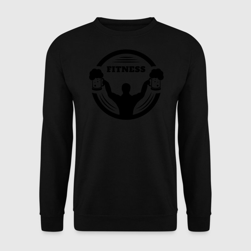 Remise en forme de body builder avec logo de la bi Sweat-shirts - Sweat-shirt Homme