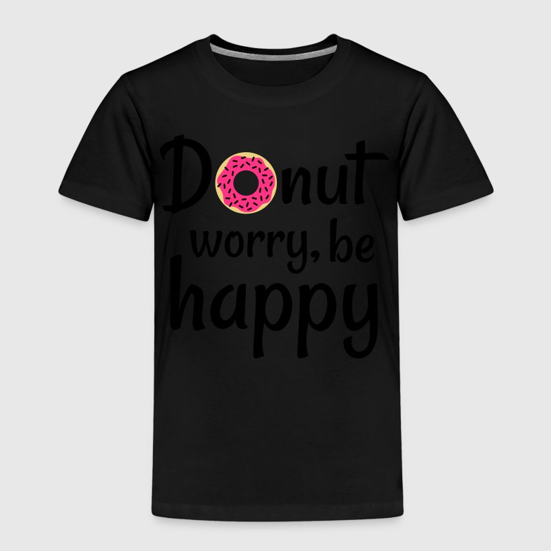 Donut worry be happy donut bekymre deg gjerne Skjorter - Premium T-skjorte for barn