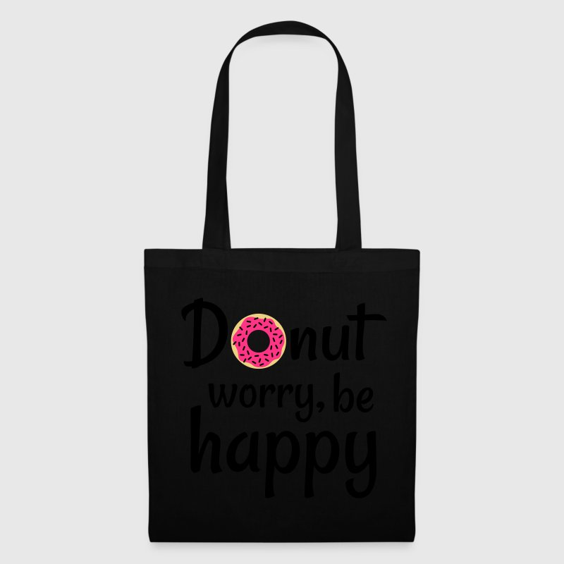 Donut worry be happy Bags & Backpacks - Tote Bag