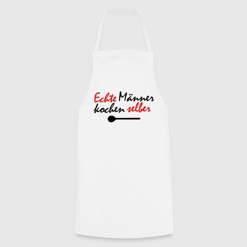 echte m nner kochen selber sch rzen sch rze spreadshirt. Black Bedroom Furniture Sets. Home Design Ideas