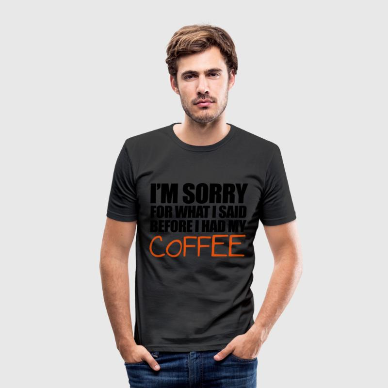 Coffee T-Shirts - Men's Slim Fit T-Shirt