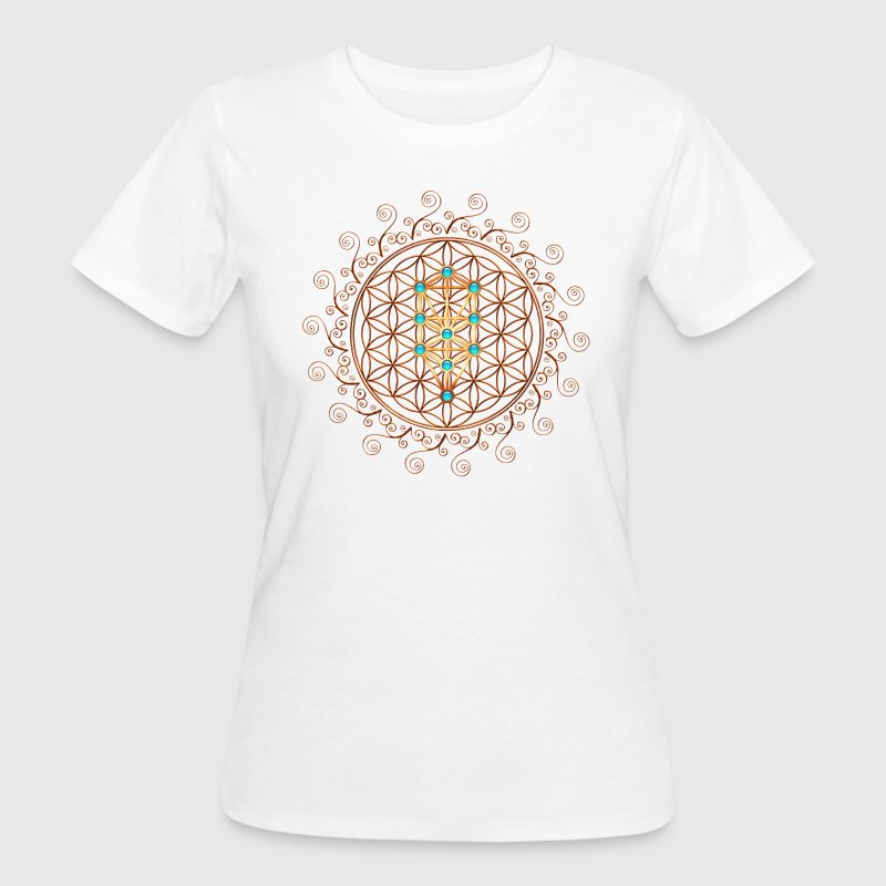 Flower of Life, Sephiroth, Kabbalah, Tree of Life T-shirts - Vrouwen Bio-T-shirt