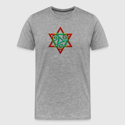 Triskele, hexagram, power of the Trinity, magic Manches longues - T-shirt Premium Homme