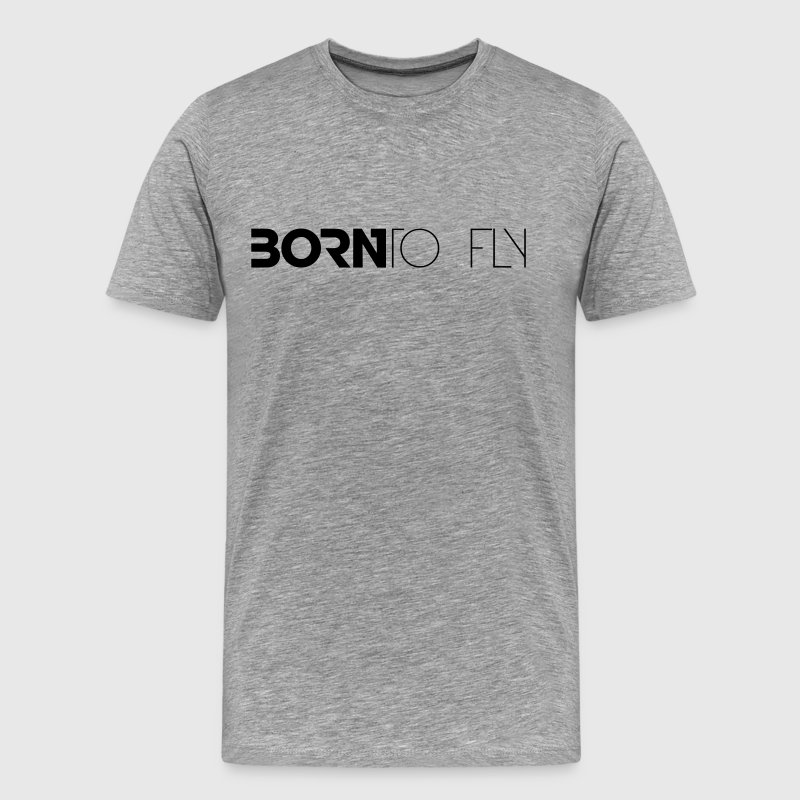 Born to Fly Heli Design T-Shirts - Männer Premium T-Shirt