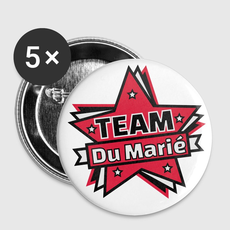 Team du marié - Equipe du marié Badges - Badge moyen 32 mm
