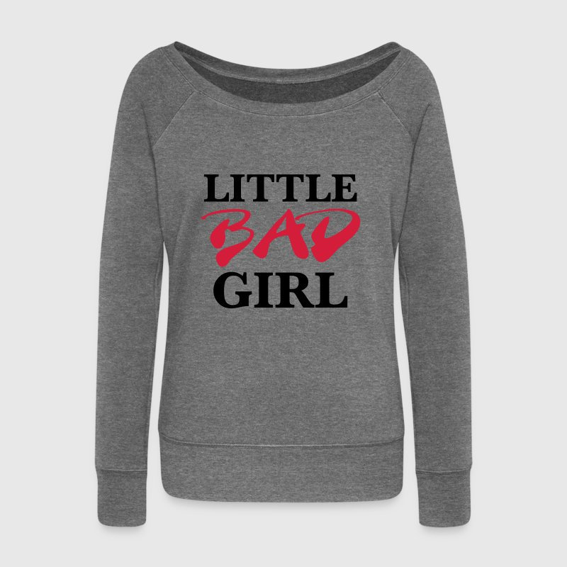Little bad girl Hoodies & Sweatshirts - Women's Boat Neck Long Sleeve Top