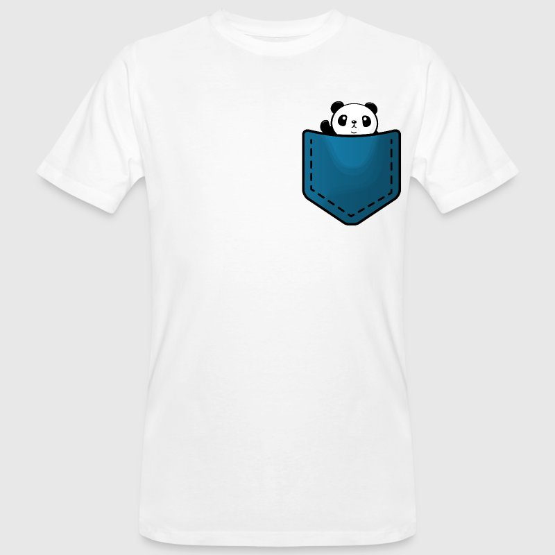 Panda in a pocket T-shirts - Organic mænd