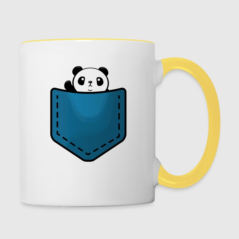 panda in a pocket tasse spreadshirt. Black Bedroom Furniture Sets. Home Design Ideas