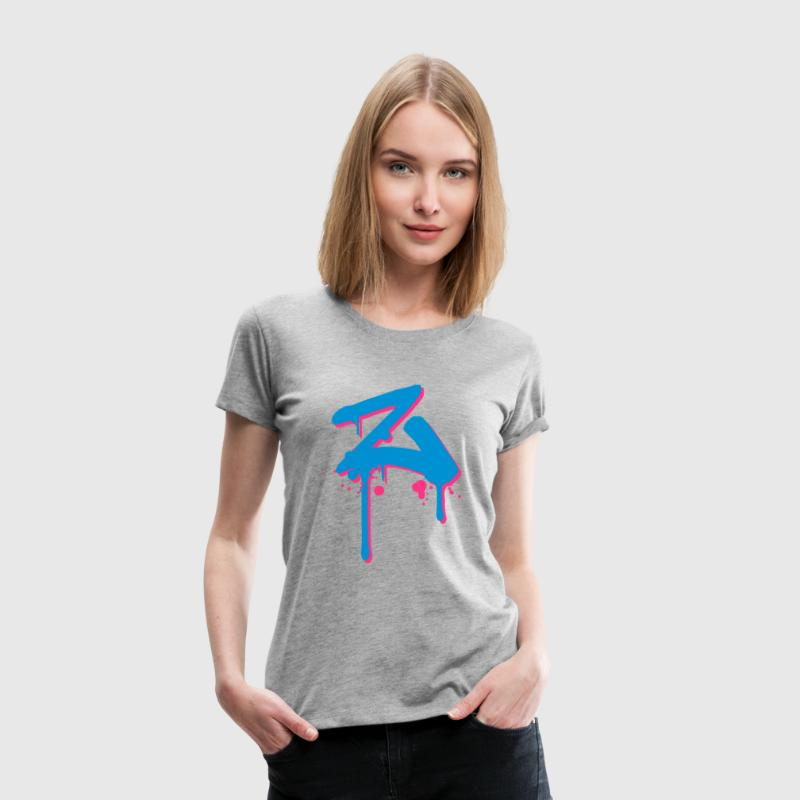 Z Graffiti Tropfen Farbklex Spray T-Shirts - Frauen Premium T-Shirt