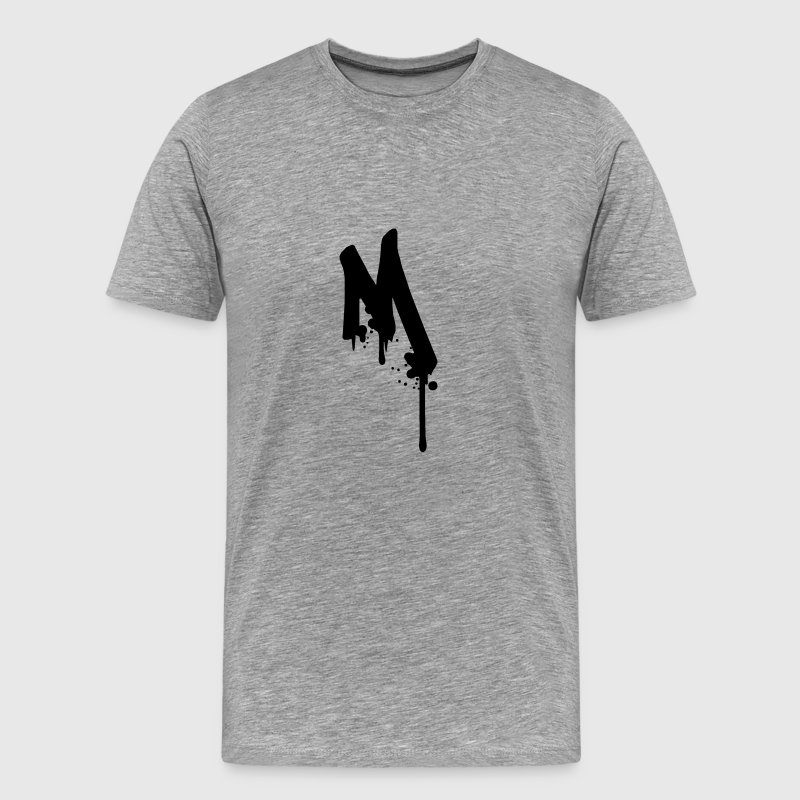 M graffiti drops Farbklex spray T-Shirts - Men's Premium T-Shirt