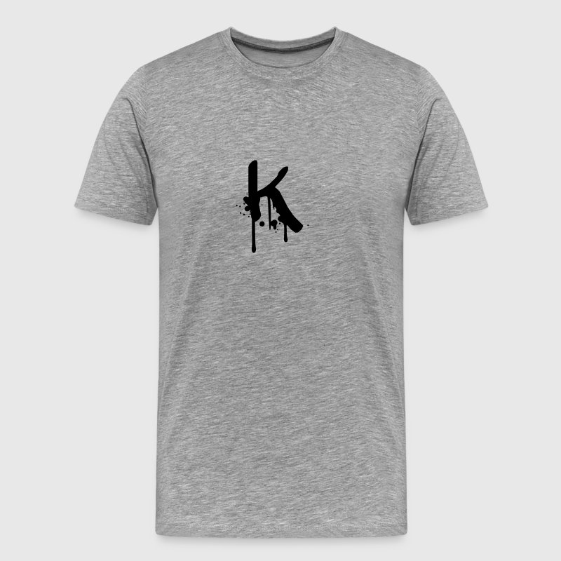 K Graffiti spray drops Farbklex T-Shirts - Men's Premium T-Shirt