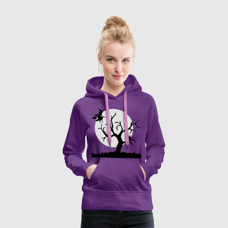 Spooky Night Sweat-shirts - Sweat-shirt à capuche Premium pour femmes
