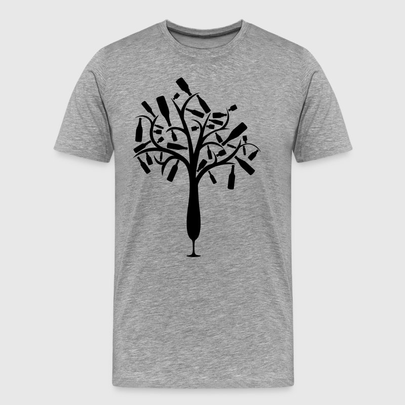 Bottle tree from champagne glass T-Shirts - Men's Premium T-Shirt