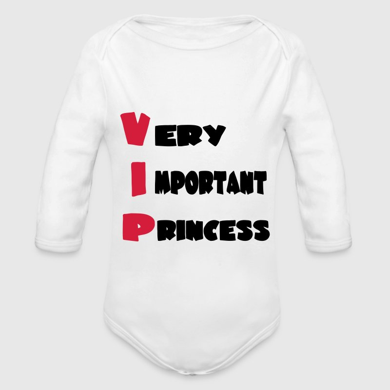 Very important princess 111 Baby Bodys - Baby Bio-Langarm-Body