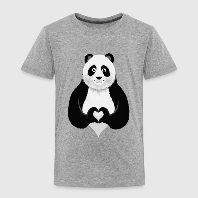 Cute Panda Heart Hand Skjorter - Premium T-skjorte for barn