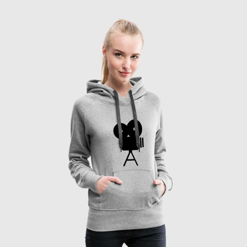Appareil photo Sweat-shirts - Sweat-shirt à capuche Premium pour femmes