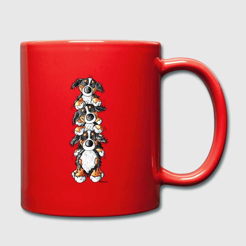 Three Funny Bernese Mountain Dogs Bottles & Mugs - Full Colour Mug