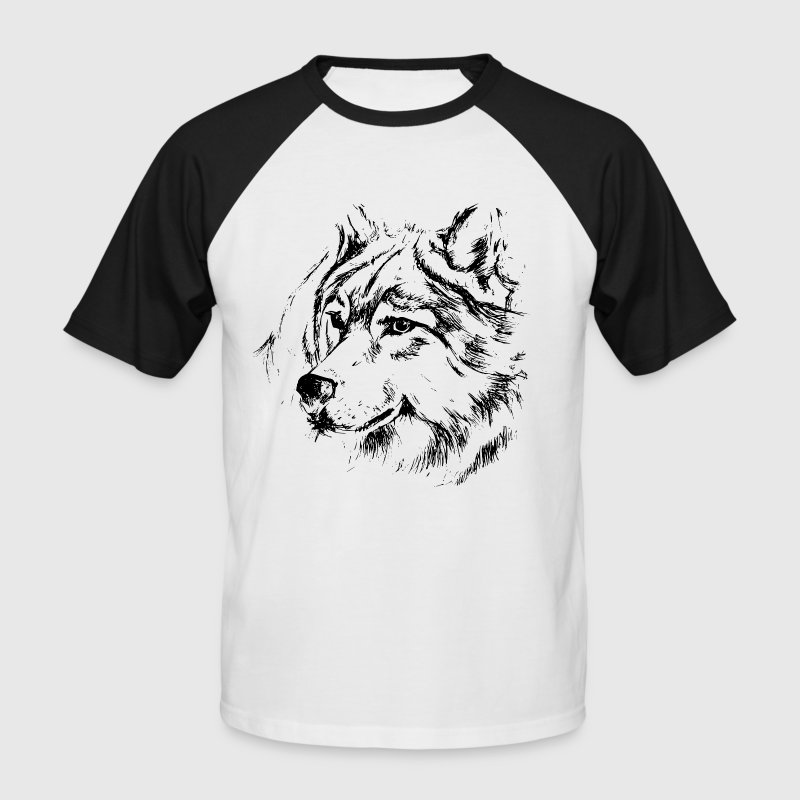 Le loup - T-shirt baseball manches courtes Homme
